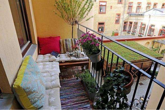 Как украсить балкон своими руками фото