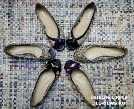 В моде - обувь из старых газет (ФОТО)