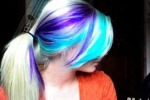 Окрашивание мелками для волос